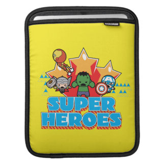 Kawaii Avenger Super Heroes Graphic iPad Sleeve