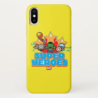 Kawaii Avenger Super Heroes Graphic iPhone X Case