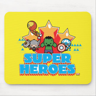 Kawaii Avenger Super Heroes Graphic Mouse Pad