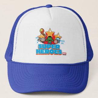 Kawaii Avenger Super Heroes Graphic Trucker Hat
