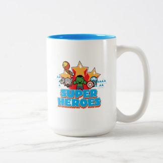 Kawaii Avenger Super Heroes Graphic Two-Tone Coffee Mug