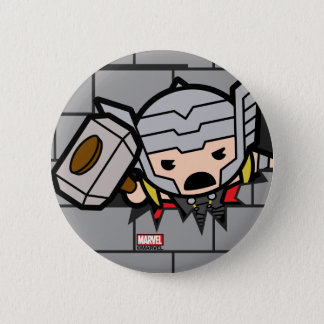 Kawaii Avengers Brick Wall Pattern 6 Cm Round Badge