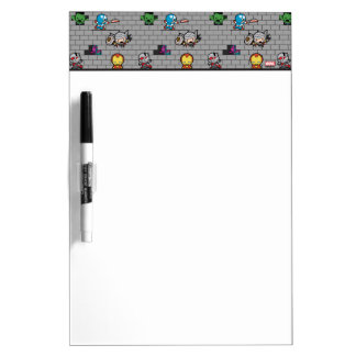 Kawaii Avengers Brick Wall Pattern Dry Erase Board