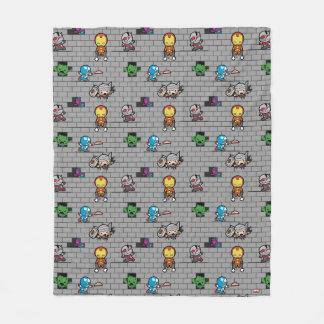 Kawaii Avengers Brick Wall Pattern Fleece Blanket