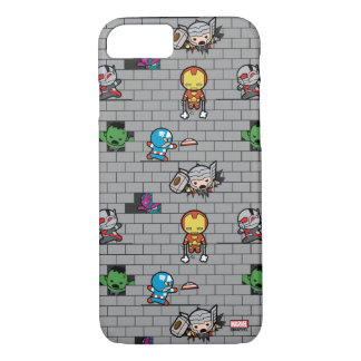 Kawaii Avengers Brick Wall Pattern iPhone 8/7 Case