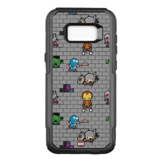 Kawaii Avengers Brick Wall Pattern OtterBox Commuter Samsung Galaxy S8+ Case