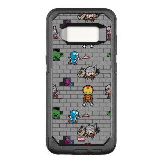 Kawaii Avengers Brick Wall Pattern OtterBox Commuter Samsung Galaxy S8 Case