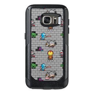 Kawaii Avengers Brick Wall Pattern OtterBox Samsung Galaxy S7 Case
