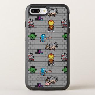 Kawaii Avengers Brick Wall Pattern OtterBox Symmetry iPhone 8 Plus/7 Plus Case