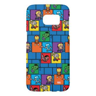 Kawaii Avengers In Colorful Blocks