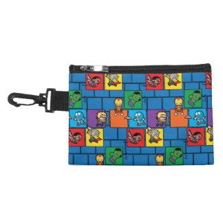 Kawaii Avengers In Colorful Blocks Accessory Bag