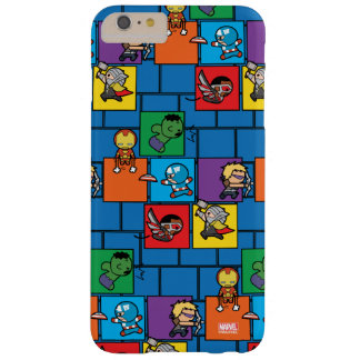 Kawaii Avengers In Colorful Blocks Barely There iPhone 6 Plus Case