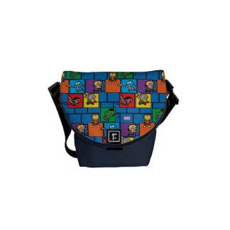 Kawaii Avengers In Colorful Blocks Commuter Bag