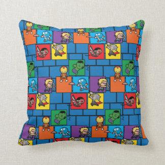 Kawaii Avengers In Colorful Blocks Cushion