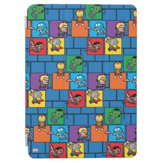 Kawaii Avengers In Colorful Blocks iPad Air Cover