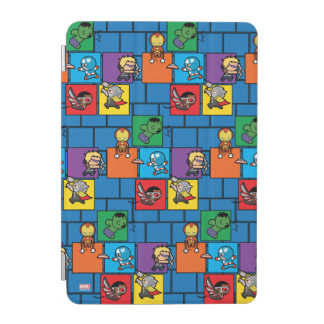 Kawaii Avengers In Colorful Blocks iPad Mini Cover