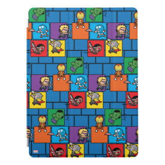 Kawaii Avengers In Colorful Blocks iPad Pro Cover