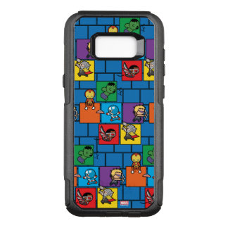 Kawaii Avengers In Colorful Blocks OtterBox Commuter Samsung Galaxy S8+ Case