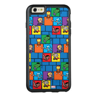 Kawaii Avengers In Colorful Blocks OtterBox iPhone 6/6s Plus Case