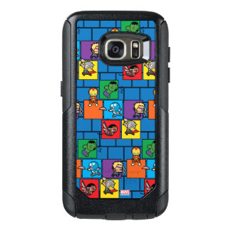 Kawaii Avengers In Colorful Blocks OtterBox Samsung Galaxy S7 Case