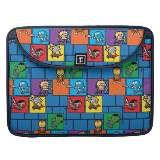 Kawaii Avengers In Colorful Blocks Sleeve For MacBook Pro