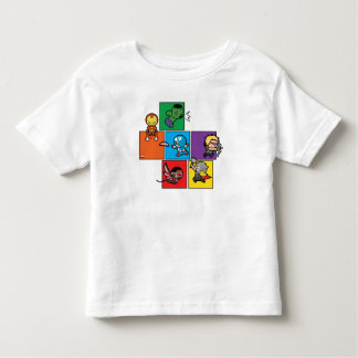 Kawaii Avengers In Colorful Blocks Toddler T-Shirt