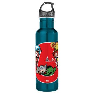 Kawaii Avengers Inside A-Logo 710 Ml Water Bottle