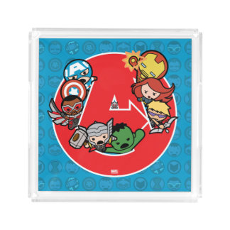 Kawaii Avengers Inside A-Logo Acrylic Tray