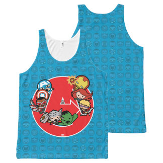 Kawaii Avengers Inside A-Logo All-Over Print Singlet