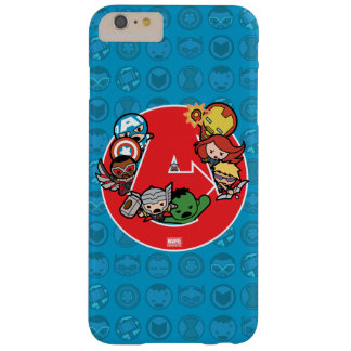 Kawaii Avengers Inside A-Logo Barely There iPhone 6 Plus Case