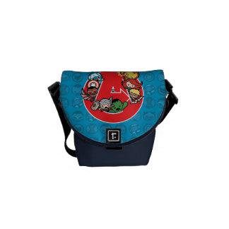 Kawaii Avengers Inside A-Logo Courier Bag