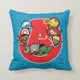 Kawaii Avengers Inside A-Logo Cushion