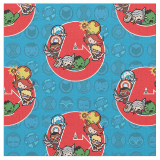 Kawaii Avengers Inside A-Logo Fabric