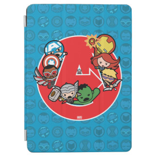 Kawaii Avengers Inside A-Logo iPad Air Cover