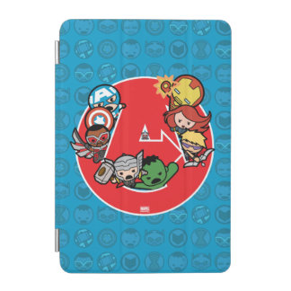 Kawaii Avengers Inside A-Logo iPad Mini Cover