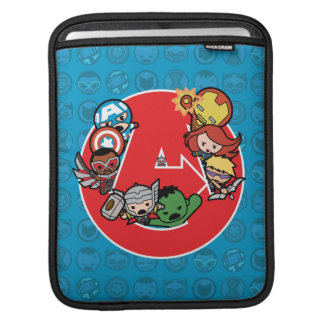 Kawaii Avengers Inside A-Logo iPad Sleeve