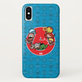 Kawaii Avengers Inside A-Logo iPhone X Case