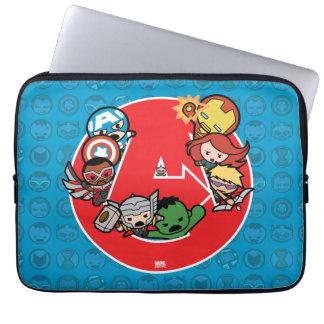 Kawaii Avengers Inside A-Logo Laptop Sleeve