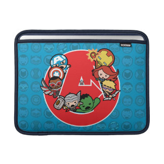 Kawaii Avengers Inside A-Logo MacBook Sleeve