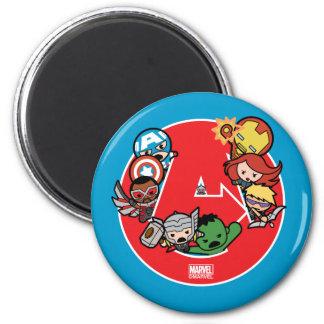 Kawaii Avengers Inside A-Logo Magnet