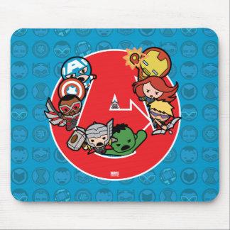 Kawaii Avengers Inside A-Logo Mouse Pad