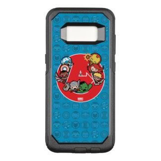 Kawaii Avengers Inside A-Logo OtterBox Commuter Samsung Galaxy S8 Case