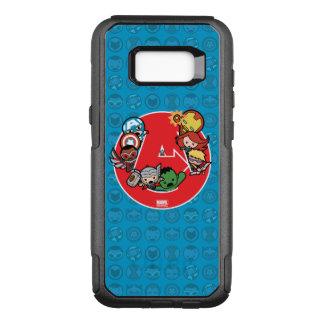 Kawaii Avengers Inside A-Logo OtterBox Commuter Samsung Galaxy S8+ Case