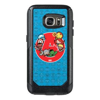 Kawaii Avengers Inside A-Logo OtterBox Samsung Galaxy S7 Case