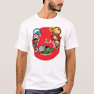 Kawaii Avengers Inside A-Logo T-Shirt