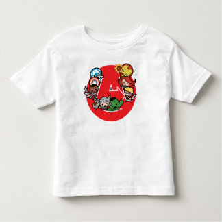 Kawaii Avengers Inside A-Logo Toddler T-Shirt