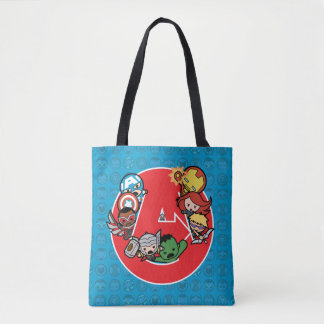 Kawaii Avengers Inside A-Logo Tote Bag