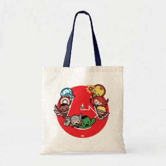 Kawaii Avengers Inside A-Logo Tote Bag