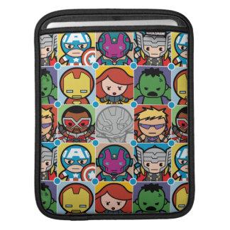 Kawaii Avengers Vs Ultron Pattern iPad Sleeve