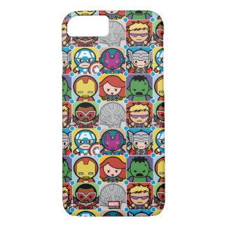 Kawaii Avengers Vs Ultron Pattern iPhone 8/7 Case